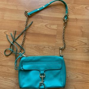 Rebecca Minkoff Mini MAC crossbody. Teal